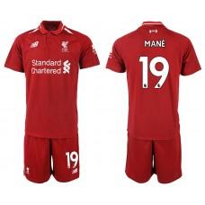 2018-2019 Men club Liverpool home 19 soccer jersey