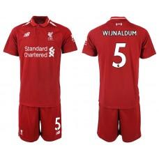 2018-2019 Men club Liverpool home 5 soccer jersey