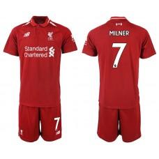 2018-2019 Men club Liverpool home 7 soccer jersey