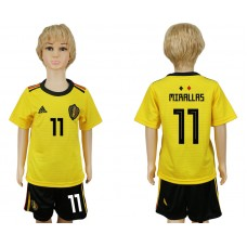 Youth 2018 World Cup Belgium away 11 yellow soccer jersey