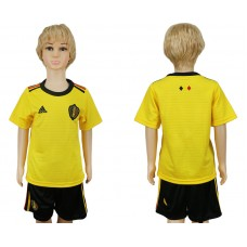 Youth 2018 World Cup Belgium away blank yellow soccer jersey