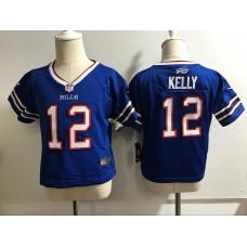 Baby Buffalo Bills 12 Kelly Blue Nike NFL Jerseys