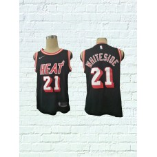 2018 Men Miami Heat 21 Whiteside Black Game Nike throwback NBA Jerseys