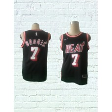 2018 Men Miami Heat 7 Dragic Black Game Nike throwback NBA Jerseys