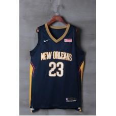 2018 Men NBA New Orleans Pelicans 23 Davis blue game jerseys