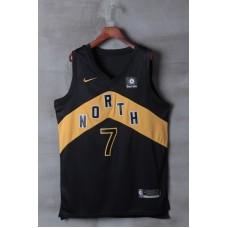 2018 Men Toronto Raptors 7 Lowry Black City Edition Nike NBA Jerseys