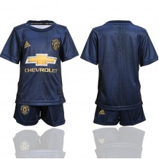 2018-2019 club Manchester United second away youth soccer jerseys