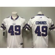 Men 2018 Buffalo Bills 49 Edmunds white Vapor Untouchable Player Nike Limited NFL Jerseys