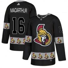 2018 NHL Men Ottawa Senators 16 Macarthur black jerseys
