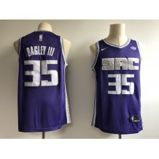 Men Sacramento Kings 35 Bagley III Purple Game Nike NBA Jerseys