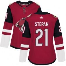 Adidas Arizona Coyotes 21 Derek Stepan Maroon Home Authentic Women Stitched NHL Jersey
