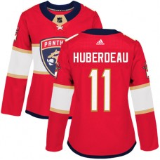 Adidas Florida Panthers 11 Jonathan Huberdeau Red Home Authentic Women Stitched NHL Jersey