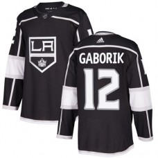 Adidas Los Angeles Kings 12 Marian Gaborik Black Home Authentic Stitched Youth NHL Jersey
