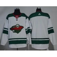 Adidas Men Minnesota Wild Blank White Road Authentic Stitched NHL Jersey