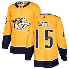 Adidas Men Nashville Predators 15 Craig Smith Yellow Home Authentic Stitched NHL Jersey