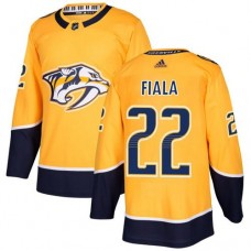 Adidas Men Nashville Predators 22 Kevin Fiala Yellow Home Authentic Stitched NHL Jersey