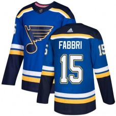 Adidas Men St.Louis Blues 15 Robby Fabbri Blue Home Authentic Stitched NHL Jersey