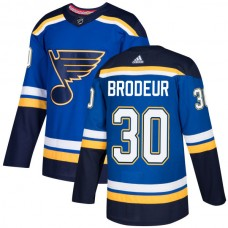Adidas Men St.Louis Blues 30 Martin Brodeur Blue Home Authentic Stitched NHL Jersey