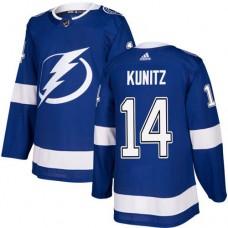 Adidas Men Tampa Bay Lightning 14 Chris Kunitz Blue Home Authentic Stitched NHL Jersey