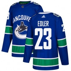 Adidas Men Vancouver Canucks 23 Alexander Edler Blue Home Authentic Stitched NHL Jersey