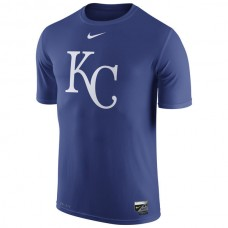 MLB Men Kansas City Royals Nike Authentic Collection Legend Logo 1.5 Performance TShirt  Royal