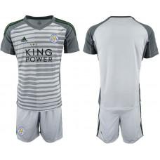 Men 2018-2019 club Leicester City gray goalkeeper soccer jersey