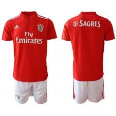 Men 2018-2019 club SL Benfica home Blank red Soccer Jerseys