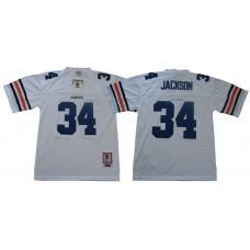 Men Auburn Tigers 34 Jackson White Throwback NCAA Jerseys