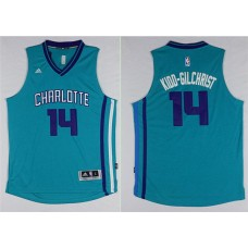 Men Charlotte Hornets 14 Michael Kidd-Gilchrist Green Throwback Stitched NBA Jersey