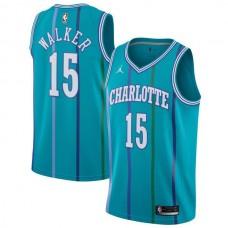 Men Charlotte Hornets 15 Kemba Walker Green Swingman Hardwood Classics NBA Jersey