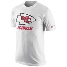 Men NFL Kansas City Chiefs Nike Facility TShirt  White