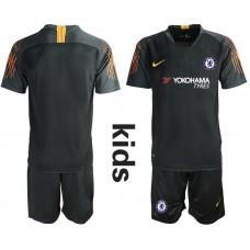 2018_2019 Club Chelsea black Youth goalkeeper soccer jerseys