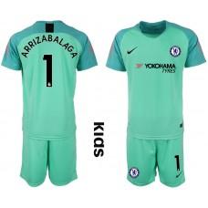 2018_2019 Club Chelsea green Youth goalkeeper 1 soccer jerseys