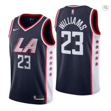 Men Los Angeles Clippers 23 Williams Blue City Edition Game Nike NBA Jerseys