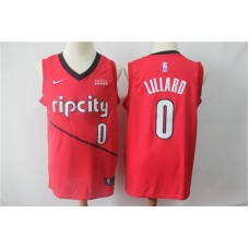 Men Portland Trail Blazers 0 Lillard Red City Edition Game Nike NBA Jerseys