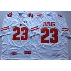 Men Wisconsin Badgers 23 Taylor White NCAA Jerseys