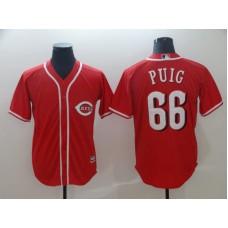 2019 MLB Men Cincinnati Reds 66 Puig red game Jerseys