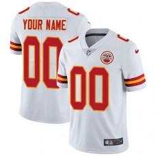 2019 NFL Youth Nike Kansas City Chiefs Road White Customized Vapor jersey