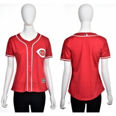 2016 MLB Cincinnati Reds Blank red women jerseys