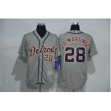 2016 MLB Detroit Tigers 28 J.D.Martinez Grey Elite Fashion Jerseys