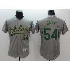 2016 MLB FLEXBASE  Oakland Athletics 54 Gray Grey Jersey