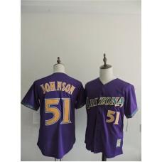 2016 MLB FLEXBASE Arizona Diamondbacks 51 Johnson Purple  Jerseys