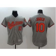 2016 MLB FLEXBASE Baltimore Orioles 10 Jones grey jerseys