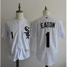 2016 MLB FLEXBASE Chicago White Sox 1 Adam Eaton stripe White Elite Jerseys