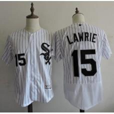 2016 MLB FLEXBASE Chicago White Sox 15 Lawrie stripe White Elite Jerseys