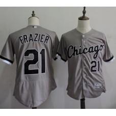 2016 MLB FLEXBASE Chicago White Sox 21 Todd Frazier Grey Elite Jerseys