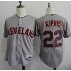 2016 MLB FLEXBASE Cleveland Indians 22 Kipnis Grey Elite Jerseys