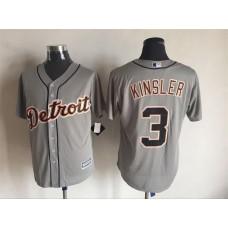 2016 MLB FLEXBASE Detroit Tigers 3 Kinsler grey jerseys