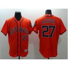 2016 MLB FLEXBASE Houston Astros 27 Jose Altuve Orange Jerseys