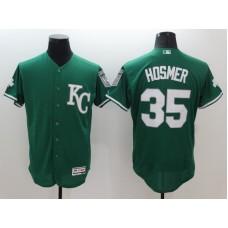 2016 MLB FLEXBASE Kansas City Royals 35 Eric Hosmer Green Jerseys
